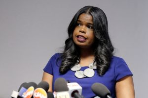 Mandatory Credit: Photo by Kiichiro Sato/AP/REX/Shutterstock (10117279a) Cook County State's Attorney Kim Foxx speaks at a news conference, in Chicago. R. Kelly, the R&B star who has been trailed for decades by lurid rumors that made him Public Enemy No. 1 to the MeToo movement, was charged with 10 counts of aggravated sexual abuse involving multiple victims R Kelly Investigtions, Chicago, USA - 22 Feb 2019