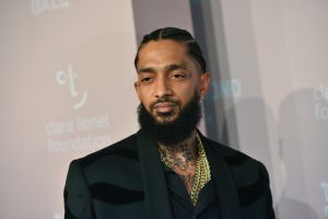Mandatory Credit: Photo by Erik Pendzich/REX/Shutterstock (9881661ga) Nipsey Hussle 4th Annual Clara Lionel Foundation Diamond Ball, Arrivals, New York, USA - 13 Sep 2018