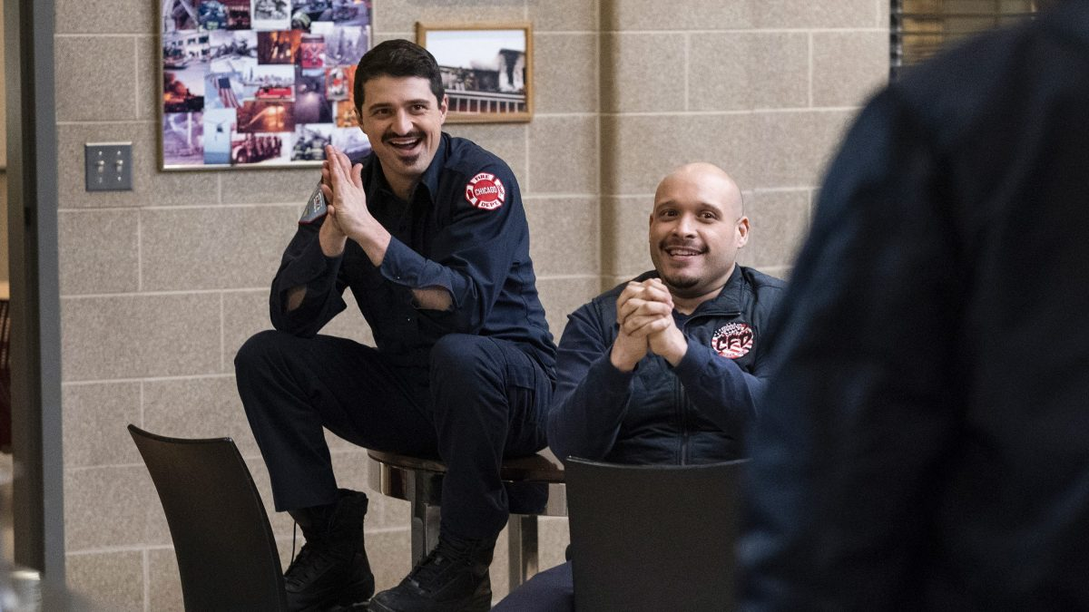 """CHICAGO FIRE -- """"It Wasn't About Hockey"""" Episode 714 -- Pictured:"""
