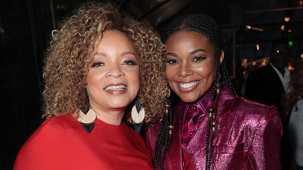 """Ruth E. Carter, Black Design Collective Honoree and Academy Award Winning Costume Designer for """"Black Panther"""" and Gabrielle Union attend the Black Design Collective's 1st Annual Scholarship Tribute, honoring Ruth E. Carter, at FIDM, Fashion Institute of Design & Merchandising in Los Angeles, CA on Saturday, April 13, 2019. (Photo: Alex J. Berliner/ABImages)"""