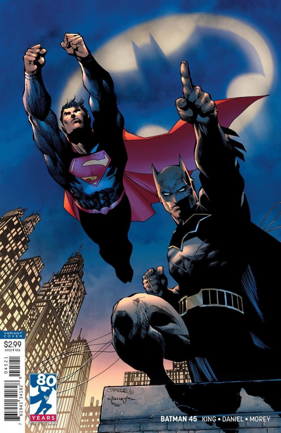 Jim Lee DC Comics Batnan Superman
