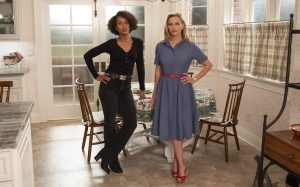 Kerry Washington and Reese Witherspoon in 'Little Fires Everywhere'