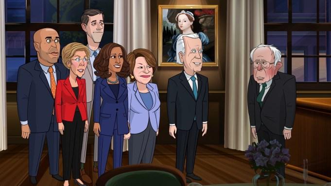 'Our Cartoon President' Skewers Dem Debaters
