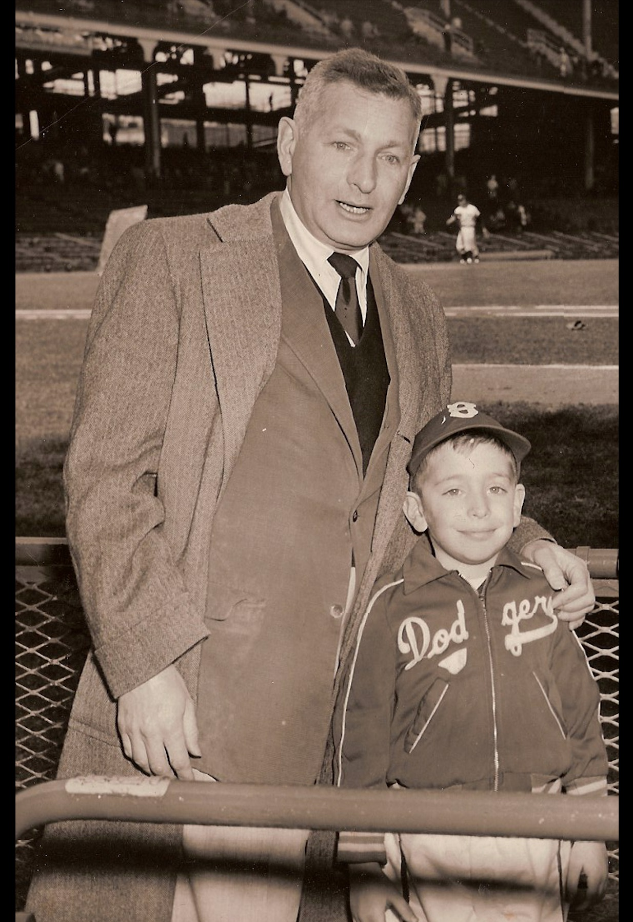 Field of Dreams director at Ebbets Field in 1955