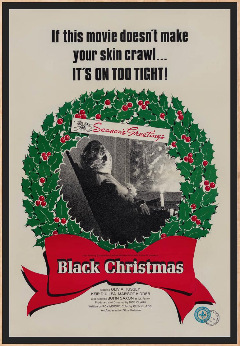Black Christmas 1974 slasher poster