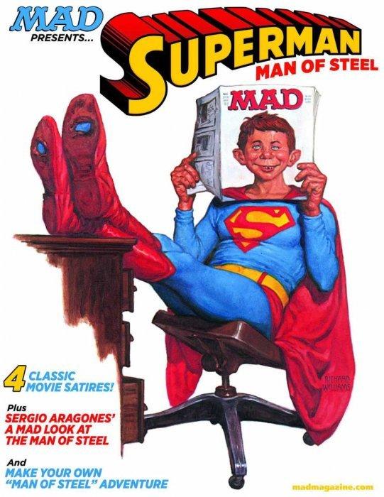 superman Christopher reeve spoof mad magazine