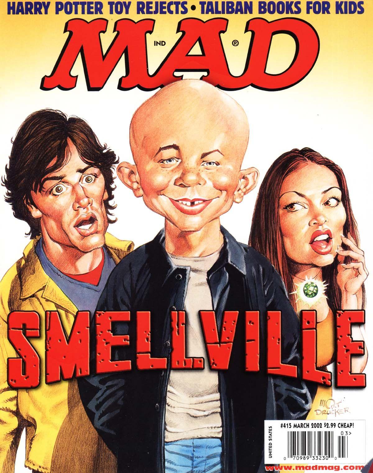 smallville superman spoof mad magazine
