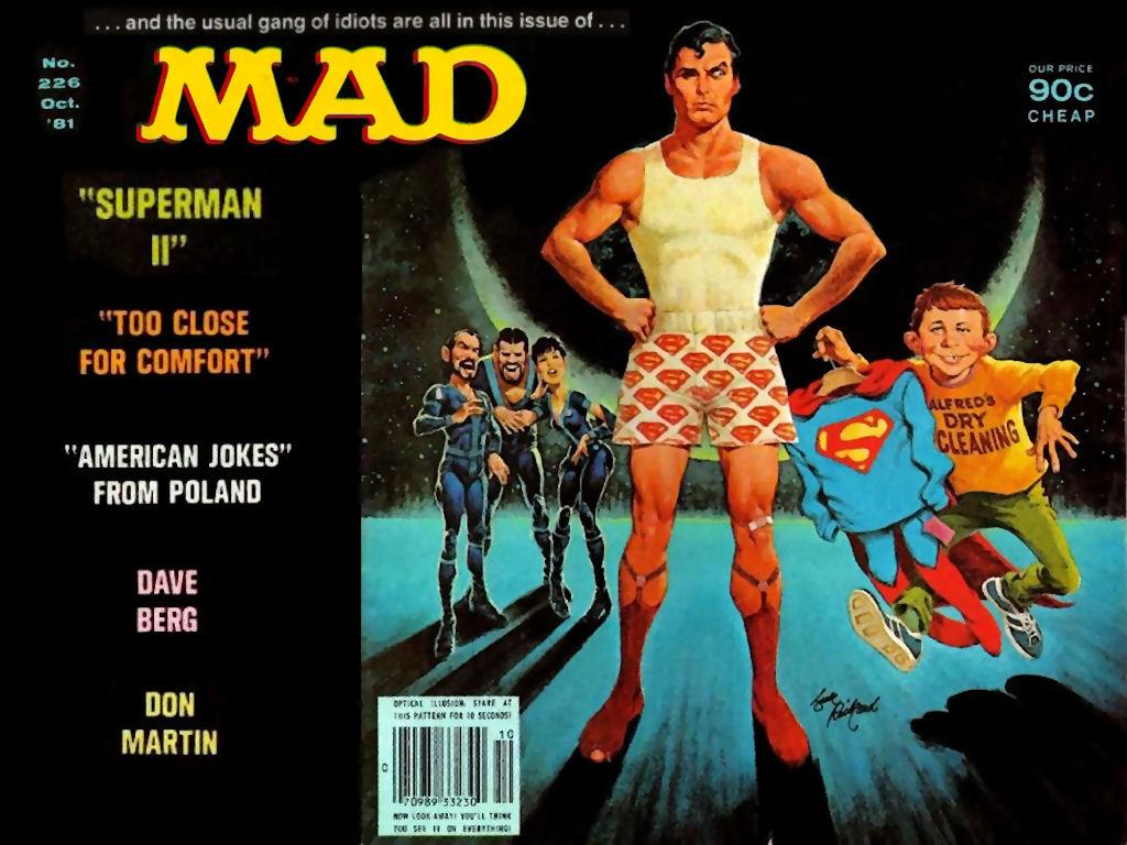 Superman parody Mad Magazine Christopher Reeve