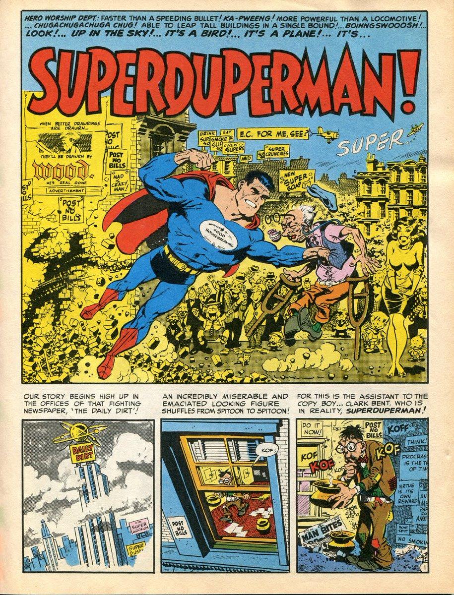 Mad Magazine parody Superman