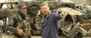 Director Matthew Michael Carnahan behind the scenes of 'Mosul'