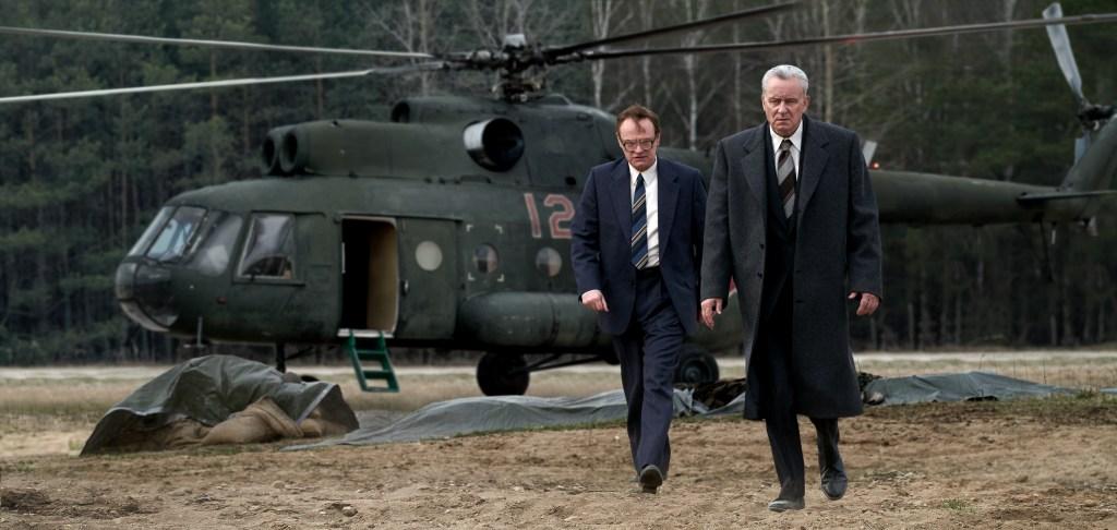 Jared Harris and Stellan Skarsgard in 'Chernobyl'