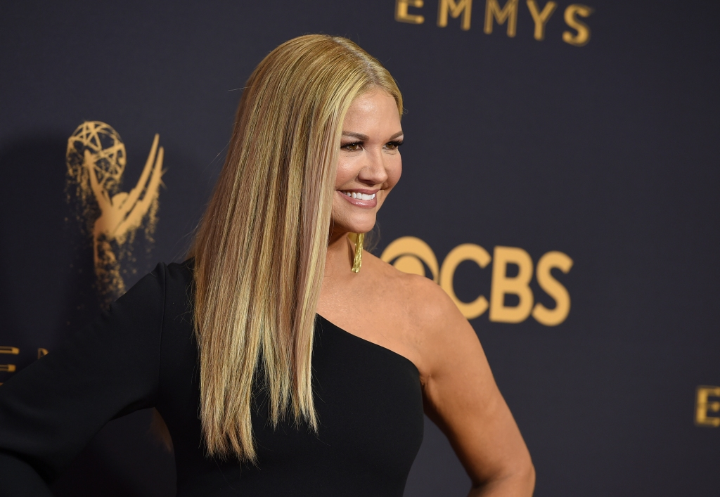 Nancy O'Dell arrives at the 69th Primetime Emmy Awards on Sunday, Sept. 17, 2017, at the Microsoft Theater in Los Angeles. (Photo by Jordan Strauss/Invision/AP)