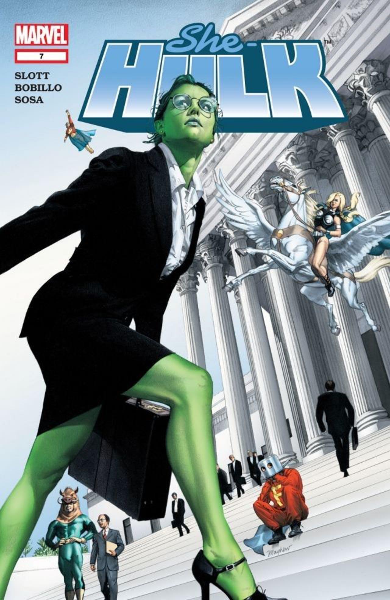 Marvel Comics Disney + She Hulk issue 7 2004 Greg Land art