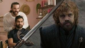 Jonathan Van Ness and Kumail Nanjiani in 'Gay of Thrones'