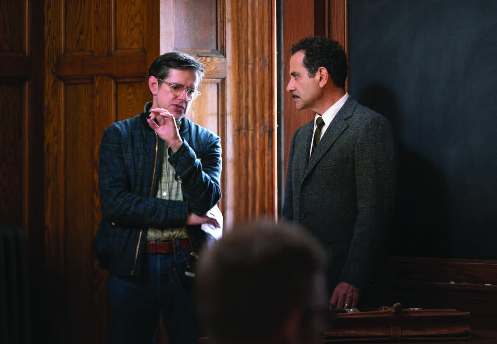 Daniel Palladino directing Tony Shalhoub behind the scenes of 'The Marvelous Mrs. Maisel'