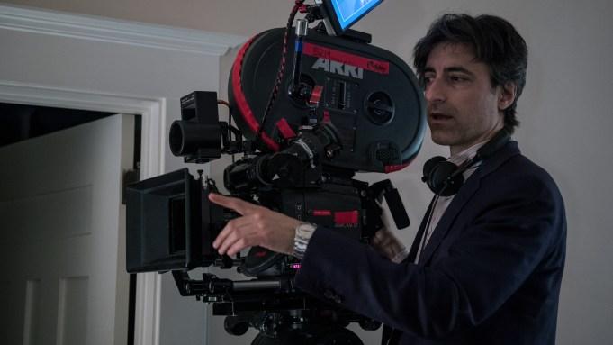 Noah Baumbach behind the scenes of