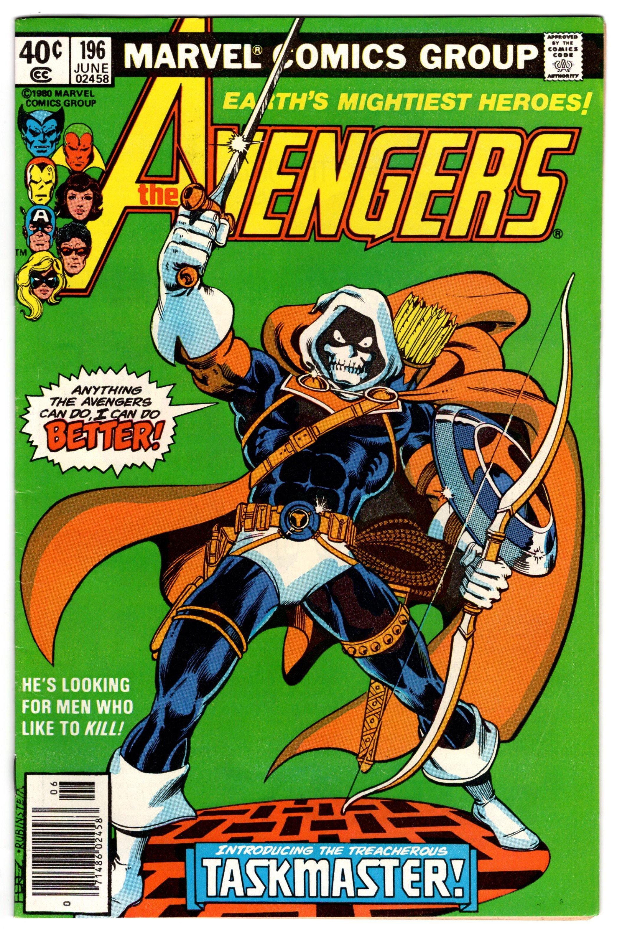 Taskmaster The Avengers 196 1980 George Perez art Black Widow movie
