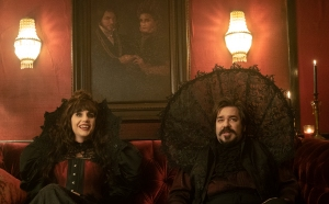 Natasia Demetriou and Matt Berry in 'What We Do in the Shadows'