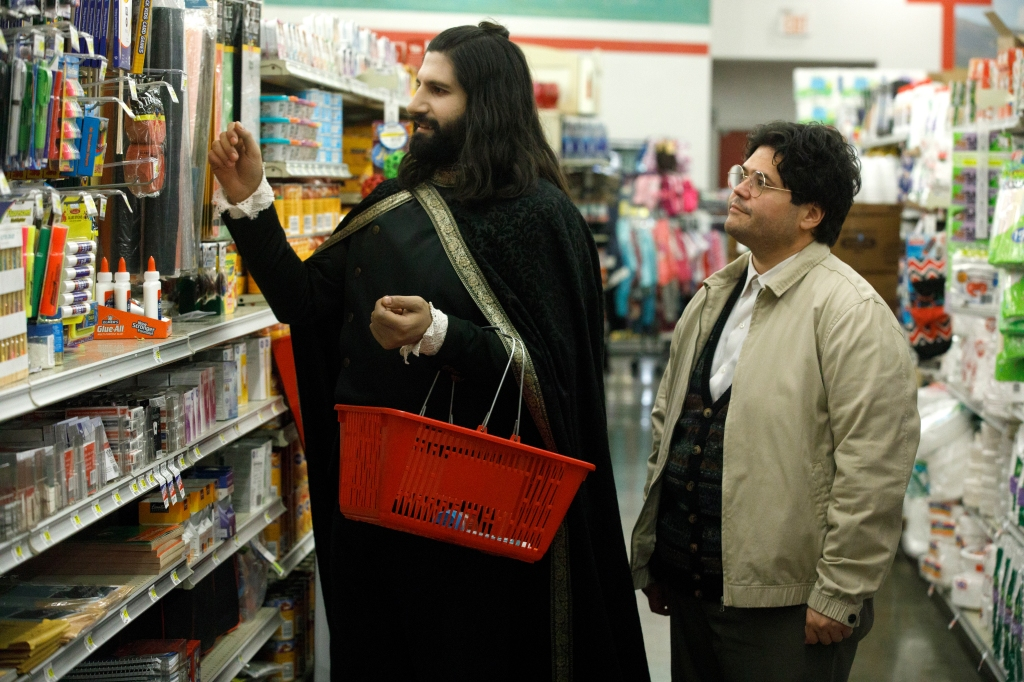 Kayvan Novak and Harvey Guillen in 'What We Do in the Shadows'