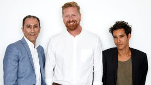 'Mosul' director Matthew Michael Carnahan with stars Suhail Dabbach and Bilal Adam Bessa