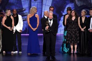 Lorne Michaels accepting Emmy for Saturday Night Live