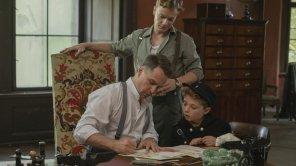 Sam Rockwell, Alfie Allen and Roman Griffin Davis in 'Jojo Rabbit'