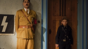 Taika Waititi and Roman Griffin Davis in 'Jojo Rabbit'