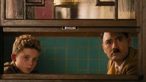 Roman Griffin Davis and Taika Waititi in 'Jojo Rabbit'