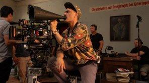 Director Taika Waititi behind the scenes of 'Jojo Rabbit'