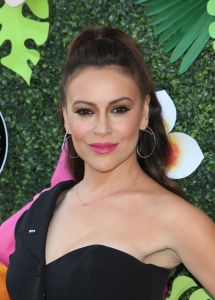 Mandatory Credit: Photo by MediaPunch/Shutterstock (10242193w) Alyssa Milano Lifetime Summer Luau, Los Angeles, USA - 20 May 2019