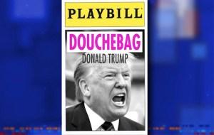 Trump Playbill program (Credit: The Late Show/CBS)