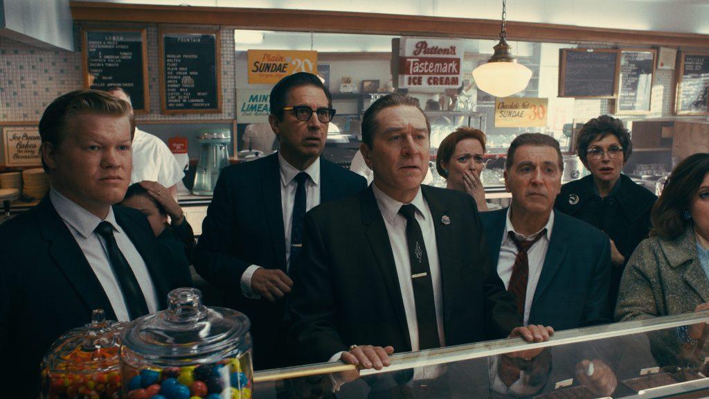 Jesse Plemons, Ray Romano, Robert De Niro, and Al Pacino in 'The Irishman'