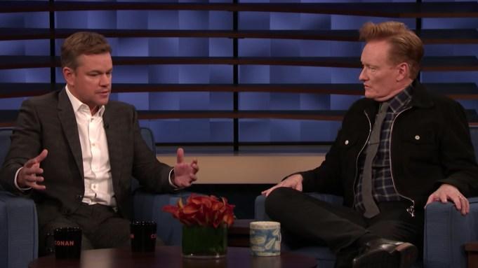 Matt Damon Confesses On 'Conan' About