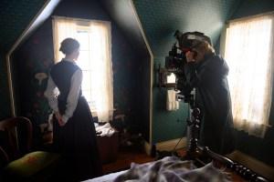 Saoirse Ronan and Greta Gerwig behind the scenes of 'Little Women'