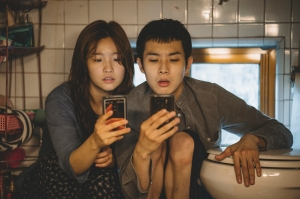 So-dam Park and Woo-sik Choi in 'Parasite'