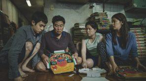Kang-ho Song, So-dam Park, Woo-sik Choi and Hye-jin Jang in 'Parasite'