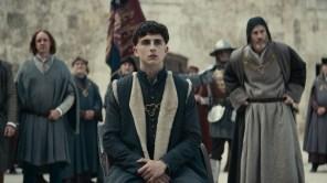 Timothée Chalamet in 'The King'