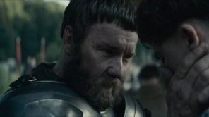 Joel Edgerton and Timothée Chalamet in 'The King'