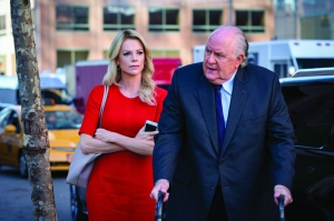 Charlize Theron and John Lithgow in 'Bombshell'
