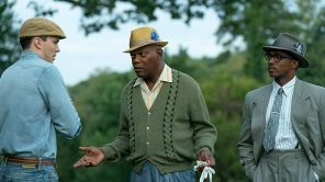 Nicholas Hoult, Samuel L. Jackson and Anthony Mackie in 'The Banker'