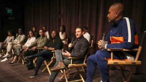 Kenya Barris moderates a panel on 'This Is Us'