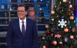 Stephen Colbert Unveils Impeachment Tree on The Late Show. (Credit: CBS)
