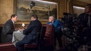 Martin Scorsese, Robert De Niro and Joe Pesci behind the scenes of 'The Irishman'