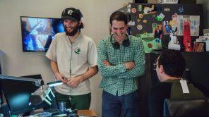 Josh Safdie, Benny Safdie and Adam Sandler behind the scenes of 'Uncut Gems'