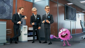 A still from Pixar animated short 'Purl'
