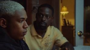 Sterling K. Brown and Kelvin Harrison Jr. in 'Waves'