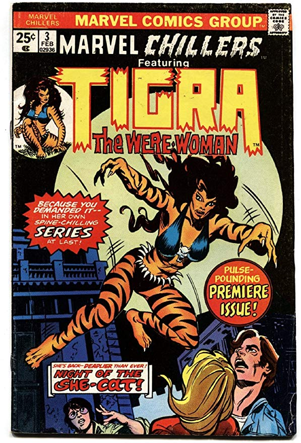 Marvel Chillers Tigra 1974