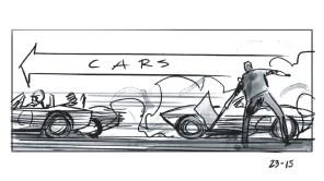 'Ford v Ferrari' storyboards