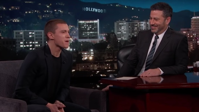 Tom Holland Tells Jimmy Kimmel About