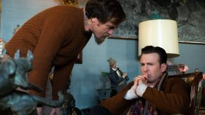 Michael Shannon and Chris Evans in 'Knives Out'